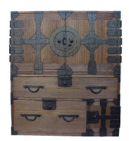 15B6 Kannon Isho Tansu w/Secret Compartment 2 Section