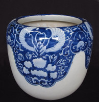 15M65 Hibachi Blue and White Seto / SOLD