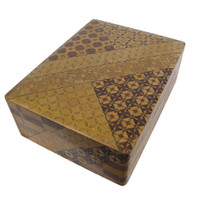 15M190 Hakone Zaiku Marquetry Inlay Box