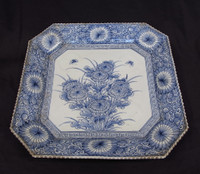 15M238 Blue and White Imari Plate / SOLD
