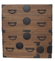 16B12 Kasane Isho Tansu 2 Section w/ Secret Compartment (Awaiting restoration)