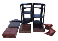 16M15 Lacquer Jubako Bento Box / SOLD