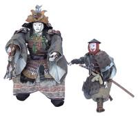 16M28 Musha Samurai Doll A Pair