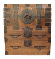 6B21 2 Section Kannon Biraki Tansu w/ Secret Compartment