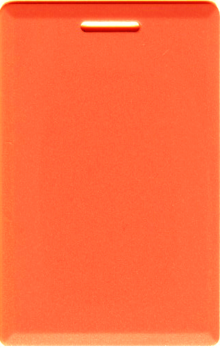 Orange Clamshell Card