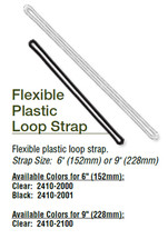 "Flexible Plastic Loop - 6""  CLEAR  (100)"
