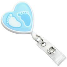 baby footprint badge reel, 2120-7633
