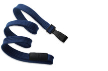 Classic Lanyards-Navy w/Wide Plastic Hook