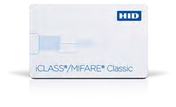 iCLASS® SE 2k Bit with 2 App Areas + MIFARE 1K Memory with 16 Sectors, Contactless Smart Card