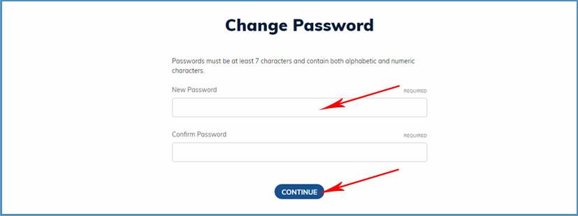 Easy Returns - Now Reset Your Account Password