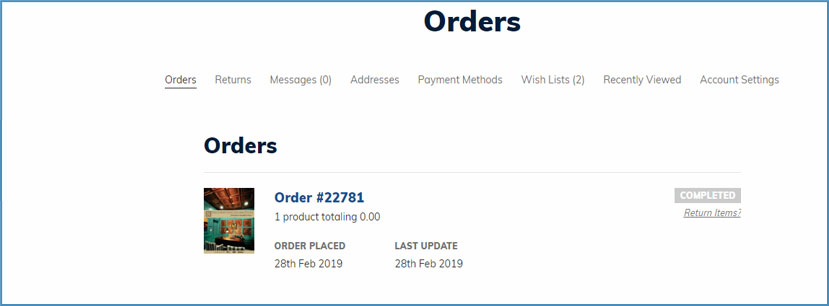 Easy Returns - Go To Completed Orders