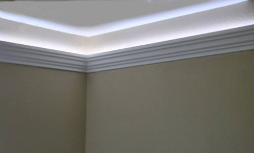 Install Raceway Wires Led Rope And Indirect Lighting In