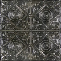 2437 Aluminum Ceiling Tile in Antique Pewter and many other finishes is available at www.decorativeceilingtiles.net