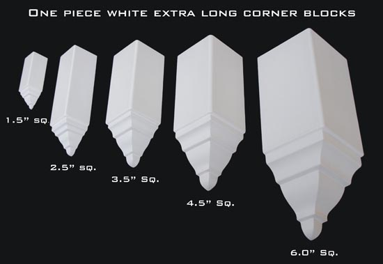 Mini, Small, Medium, Large and Giant are all the available corner blocks we offer.