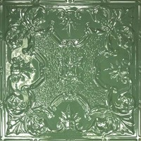 2443 Aluminum Ceiling Tile in Emerald finish is available at www.decorativeceilingtiles.net