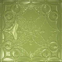 2410 Aluminum Ceiling Tile in Honey Dew Finish and many other finishes is available at www.decorativeceilingtiles.net