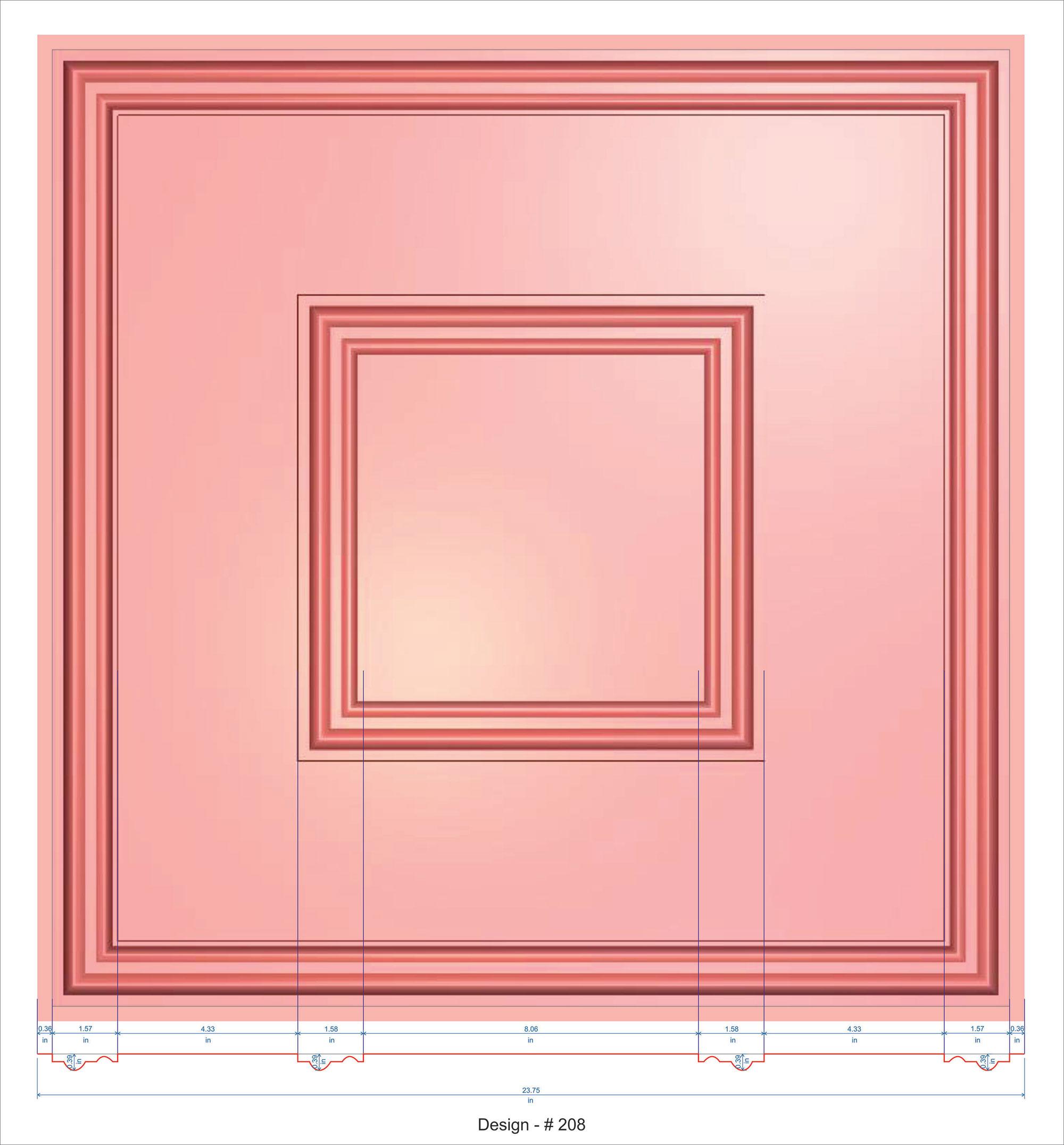 Town Square Faux Tin Ceiling Tile 24 Quot X24 Quot 208