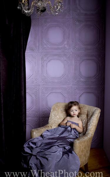 Purplelish wall decor use as a backdrop for Photography.
