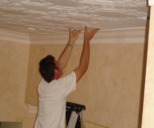 milan jara installing foam ceiling tile in boca raton florida