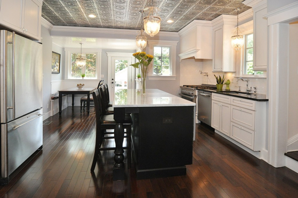Beautifuly remodeled kitchen in a Victorian Home by GreenRose in New Jersey.