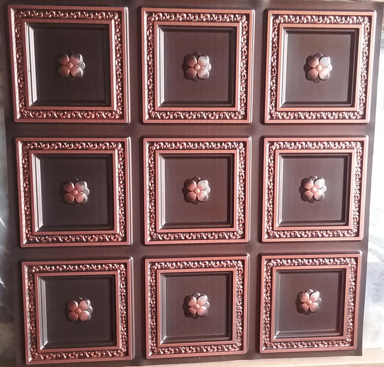 LOT 15 A -PVC-239 (84 SQ FT) 21 PCS   Antique Copper /  Glue Up