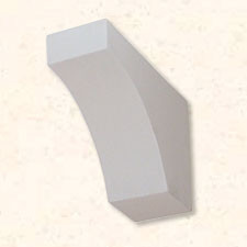 Faux Wood Corbels Smooth - Cove - 12 1/4 in. Length