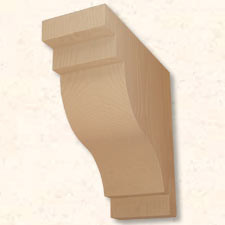 Faux Wood Corbels Doug Fir - 23 1/2 in. Length