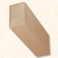 Faux Wood Corbels Doug Fir - Chamfered - 18 in. Length