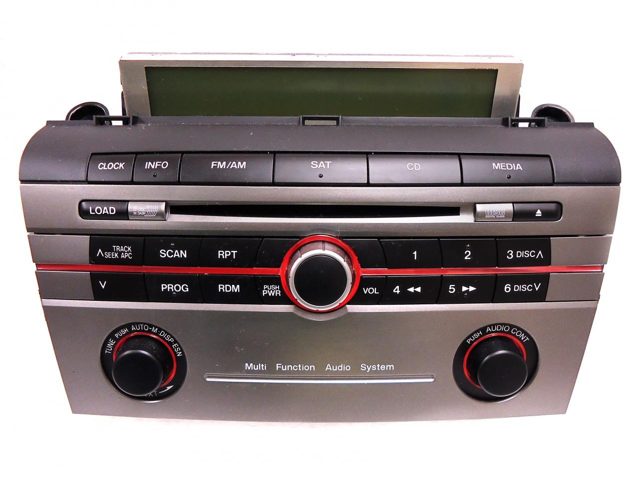 mazda 3 radio stereo 6 disc changer cd player sat multi. Black Bedroom Furniture Sets. Home Design Ideas