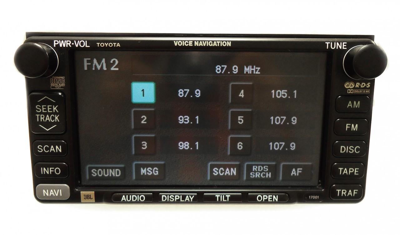 17001 02 03 04 Toyota Camry Navigation Gps Radio Cd Player