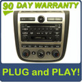 03 04 05 NISSAN Murano BOSE Radio Stereo 6 Disc Changer CD Player SAT RDS A/C Heat Climate Temp Controls 28188-CA010 2003 2004 2005