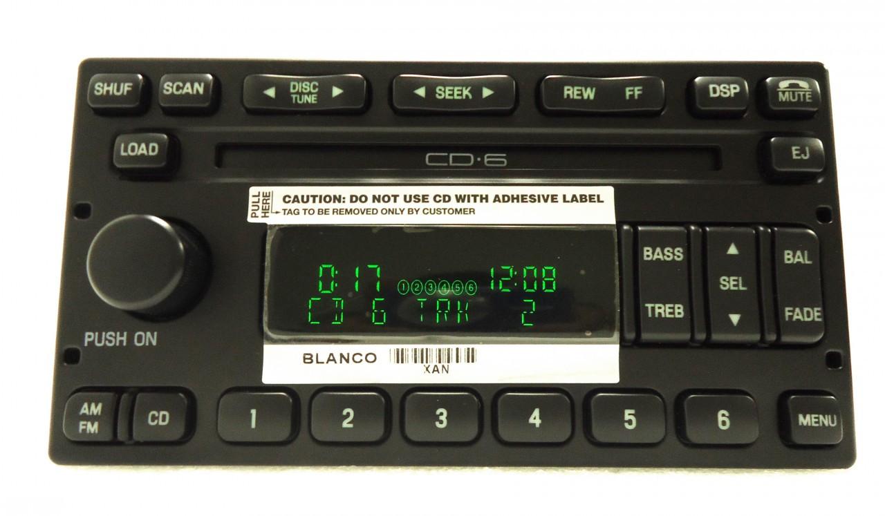 New Ford Lincoln Mercury Audiophile Premium Radio Stereo 6