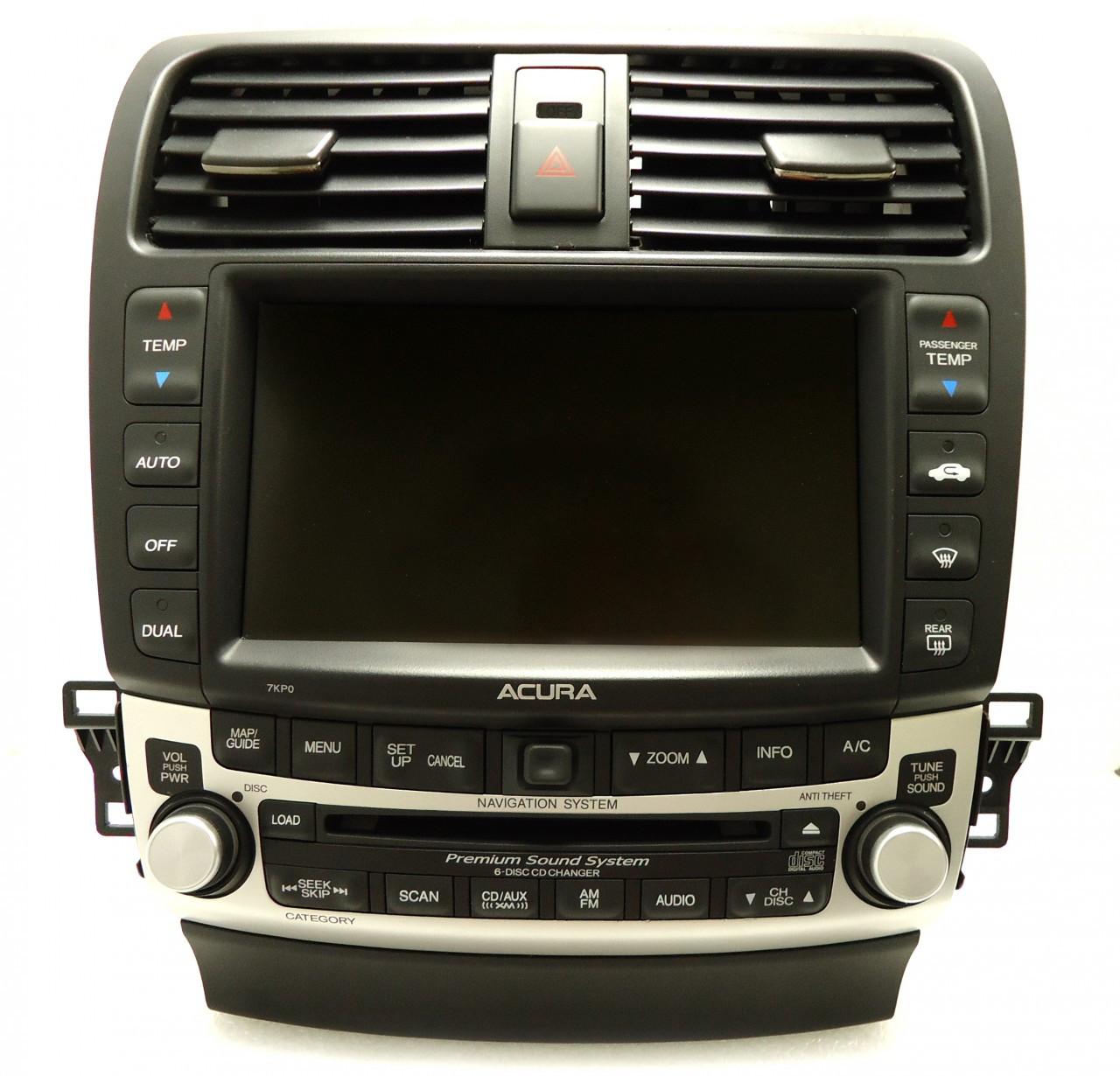 7KP0 2005 2006 2007 2008 Acura TSX Navigation XM Radio CD