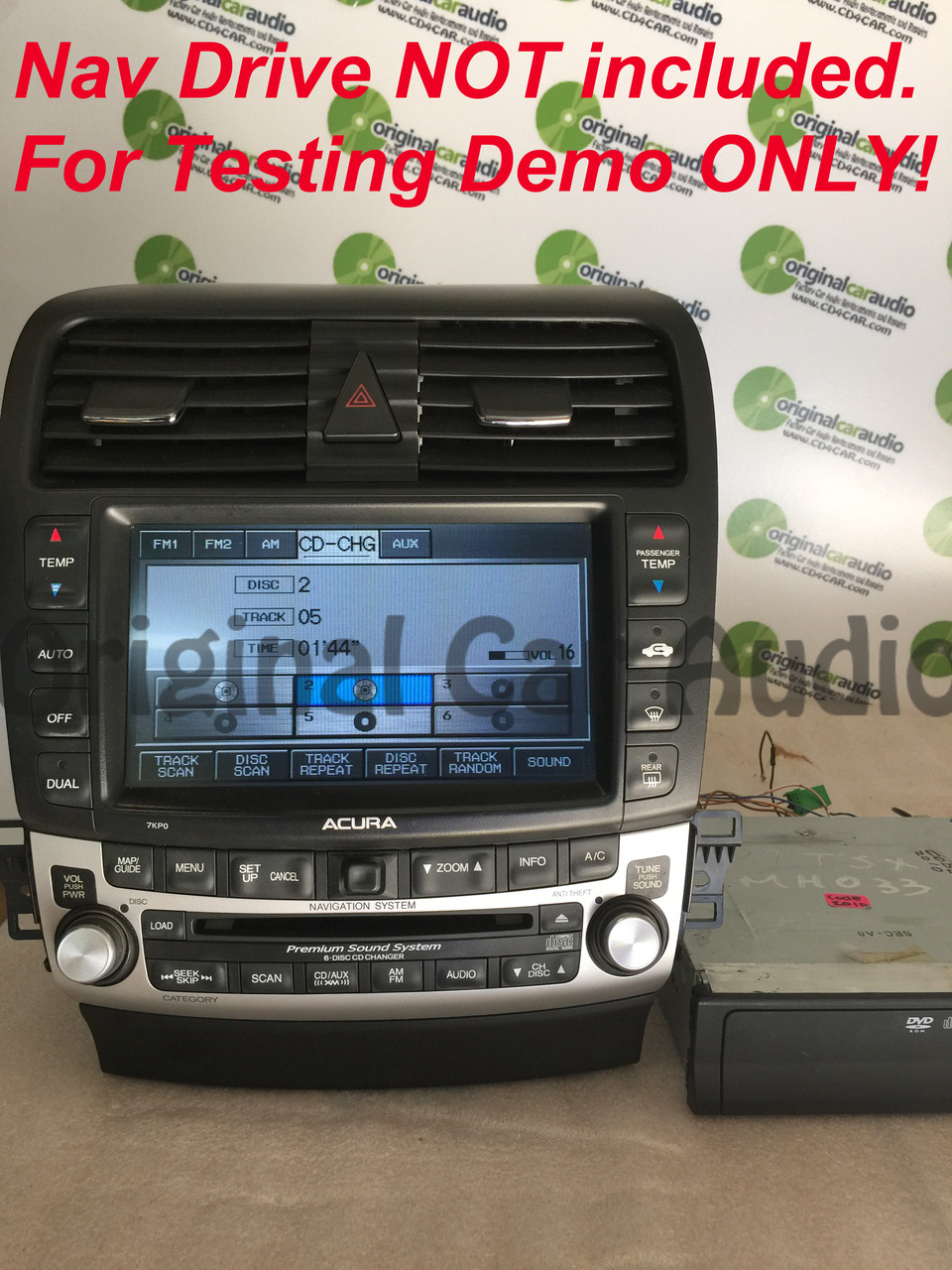 2005-2006 ACURA TSX Navigation GPS Radio 6 Disc Changer CD