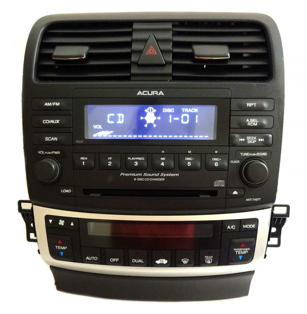7EC0 2004 05 06 07 08 Acura TSX Radio 6 CD Changer Stereo