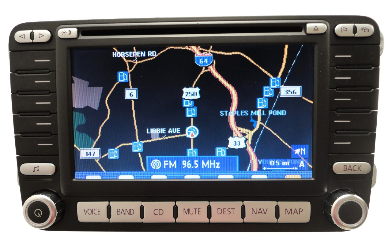 06 07 09 jetta navigation gps system radio lcd display screen. Black Bedroom Furniture Sets. Home Design Ideas