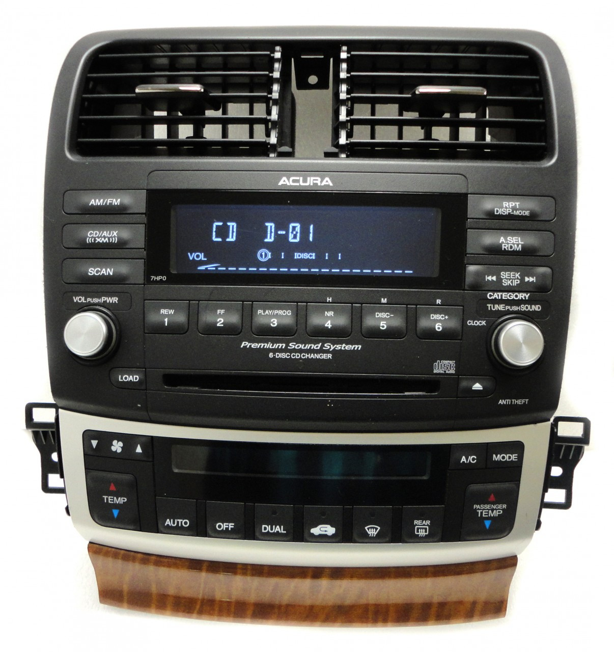 7HP0 04 05 06 07 08 Acura TSX XM Stereo 6 CD Player