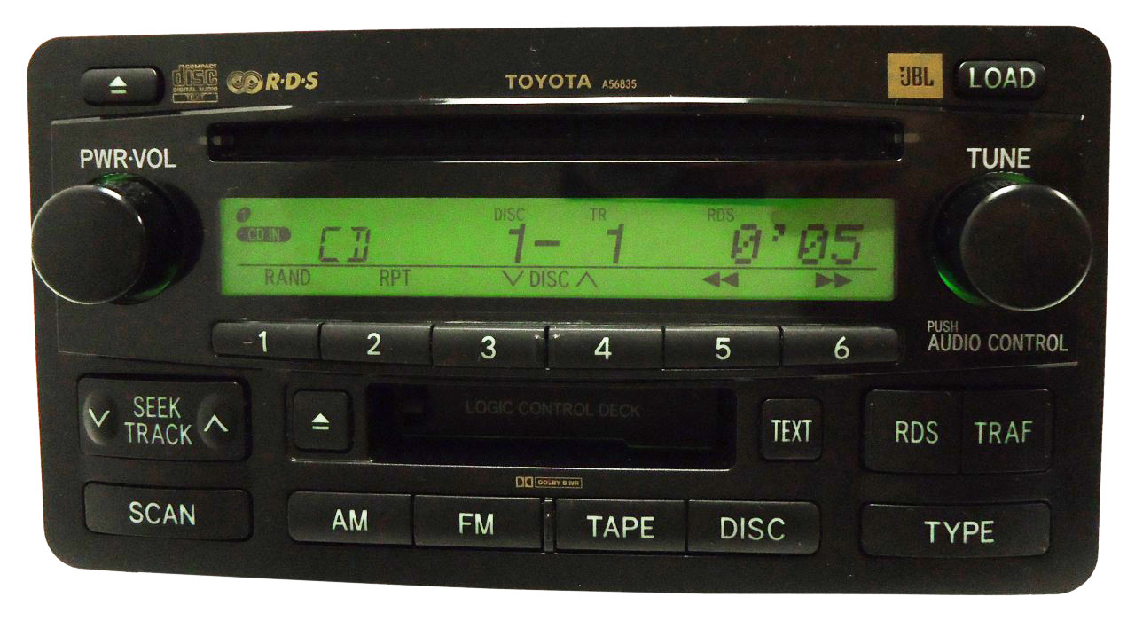 toyota sequoia jbl radio stereo 6 disc changer tape. Black Bedroom Furniture Sets. Home Design Ideas