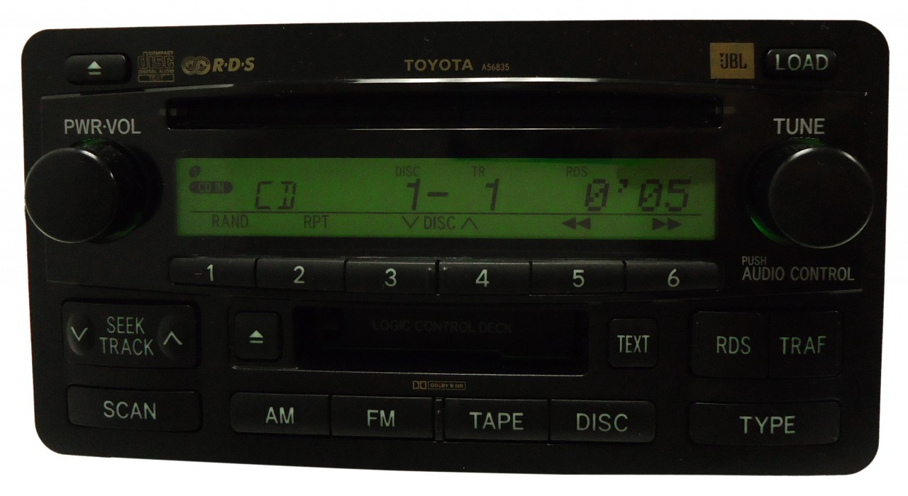 a56829 03 2004 tundra radio stereo 6 disc changer cd player. Black Bedroom Furniture Sets. Home Design Ideas