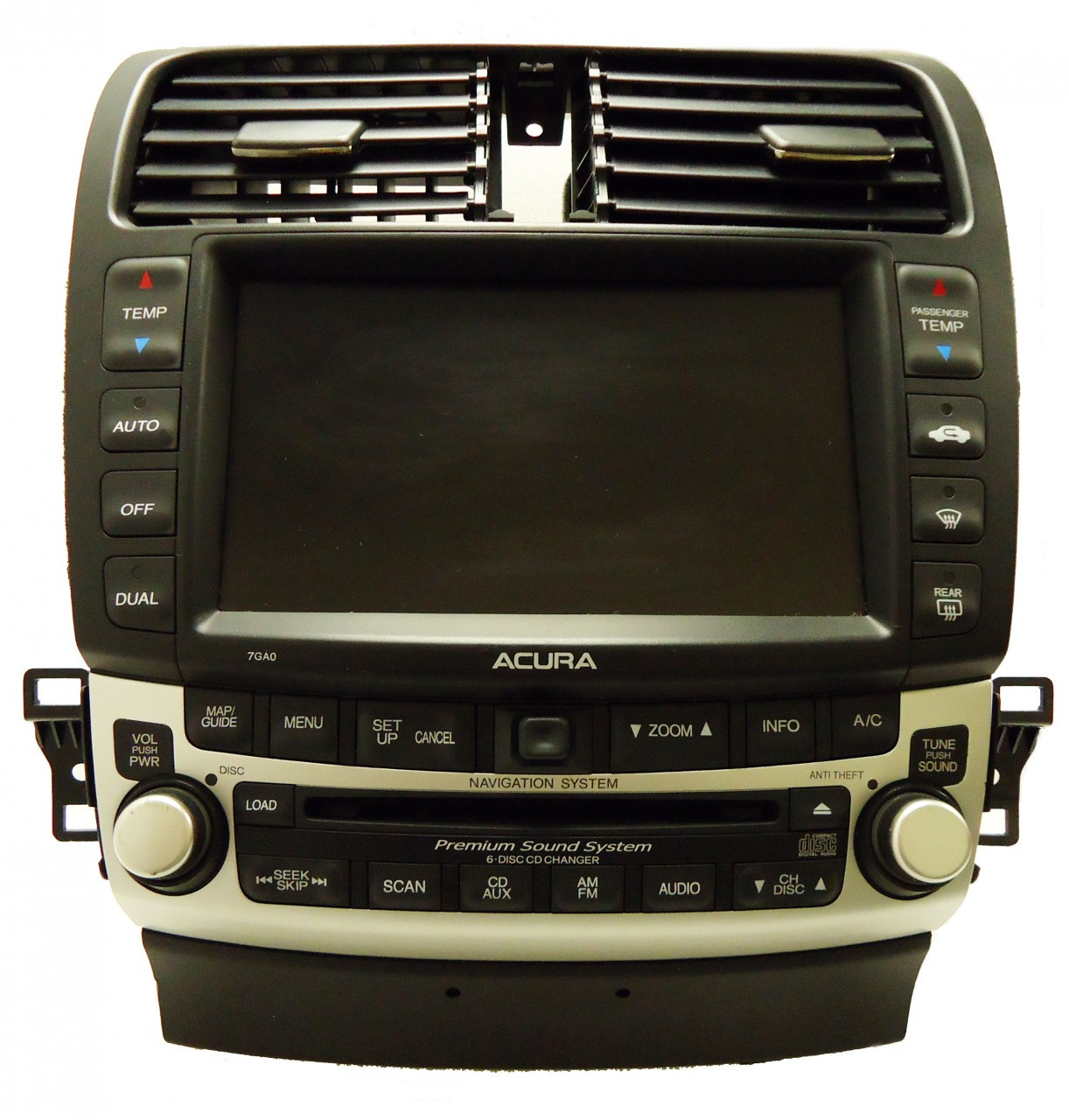 7GA0 04 Acura TSX Navigation GPS Radio 6 CD Changer Stereo