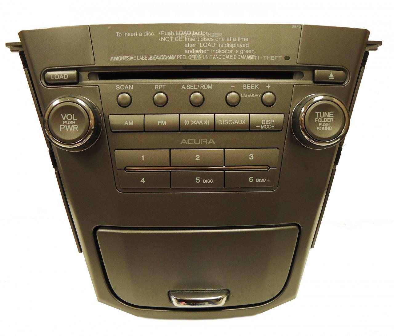 07 08 09 ACURA MDX Radio Stereo 6 MP3 CD Changer Disc