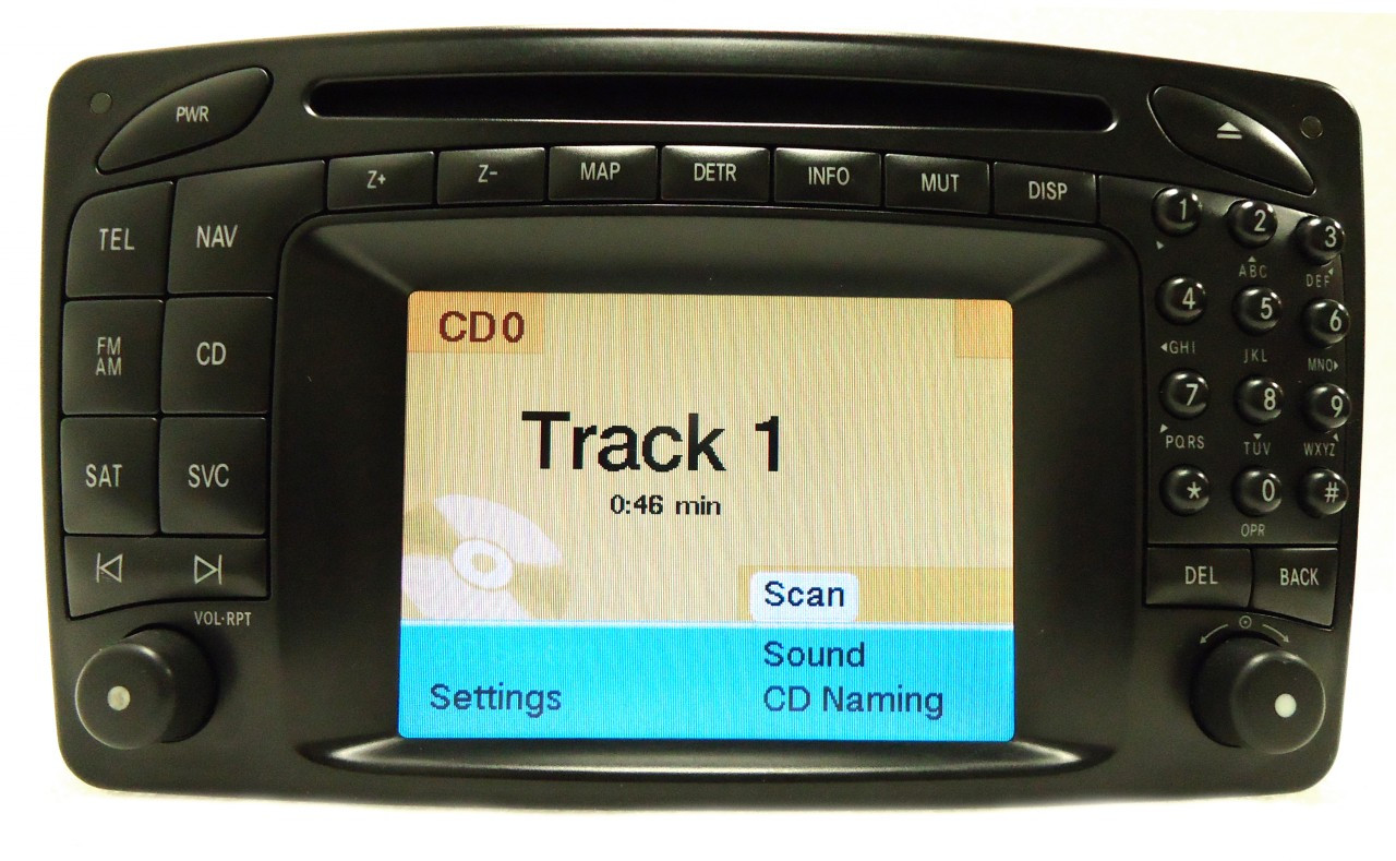 mercedes benz command navigation gps radio cd player lcd. Black Bedroom Furniture Sets. Home Design Ideas