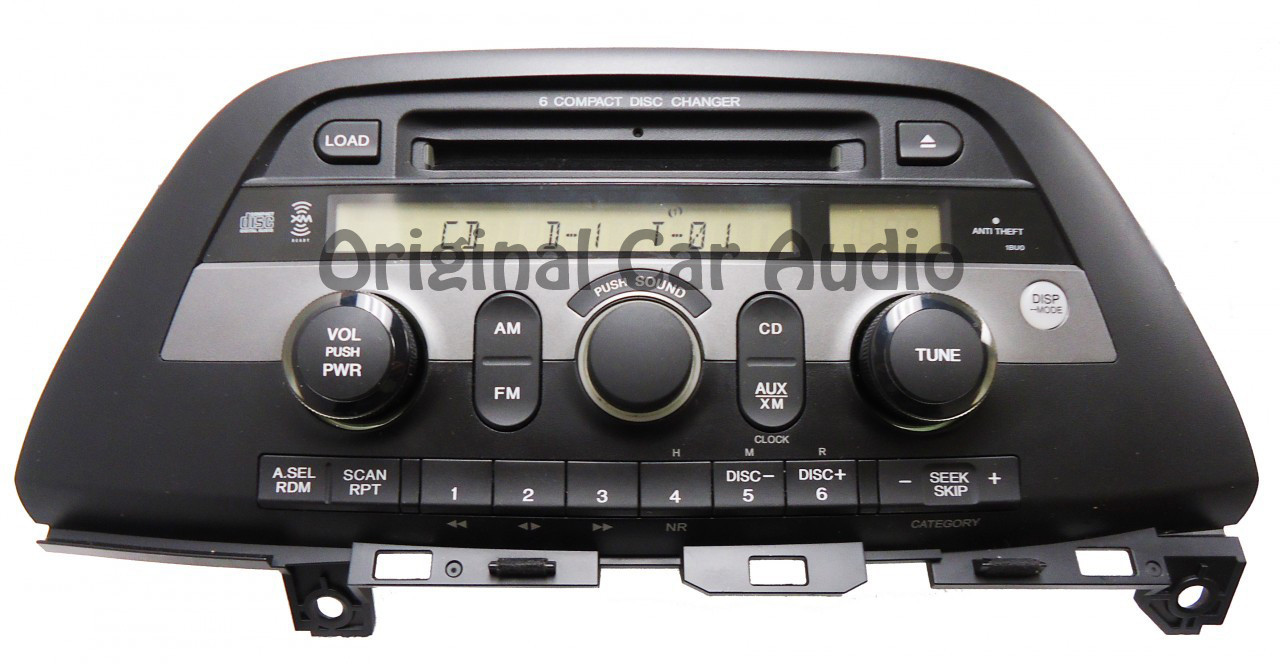 1bu0 2005 honda odyssey radio stereo 6 cd changer player wiring diagram car dvd player