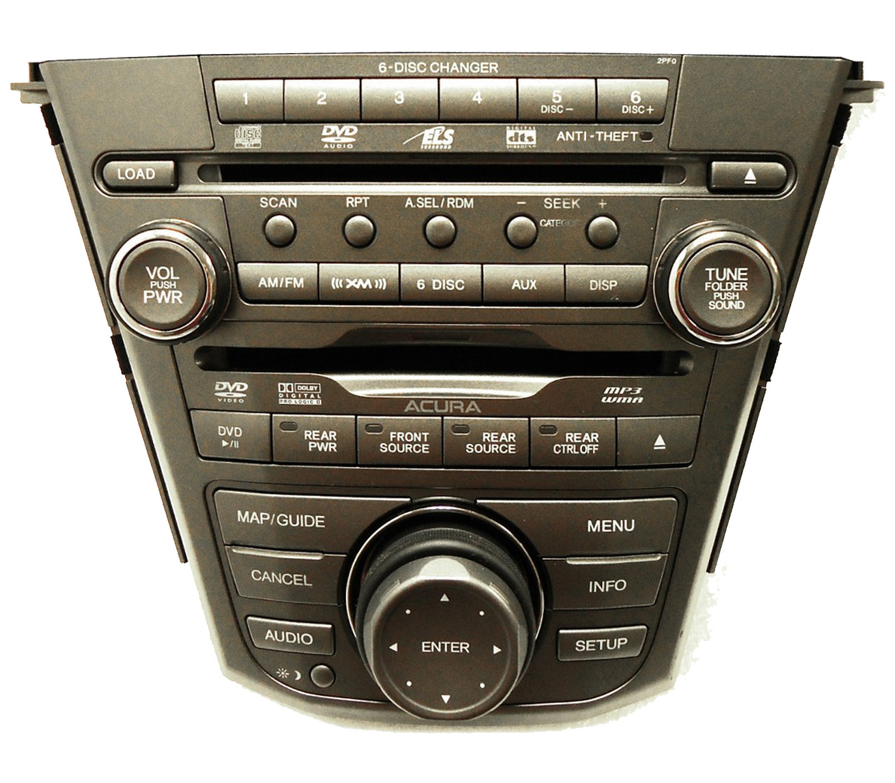 ACURA MDX Radio Navigation Teck 6 Disc Changer MP3 CD DVD