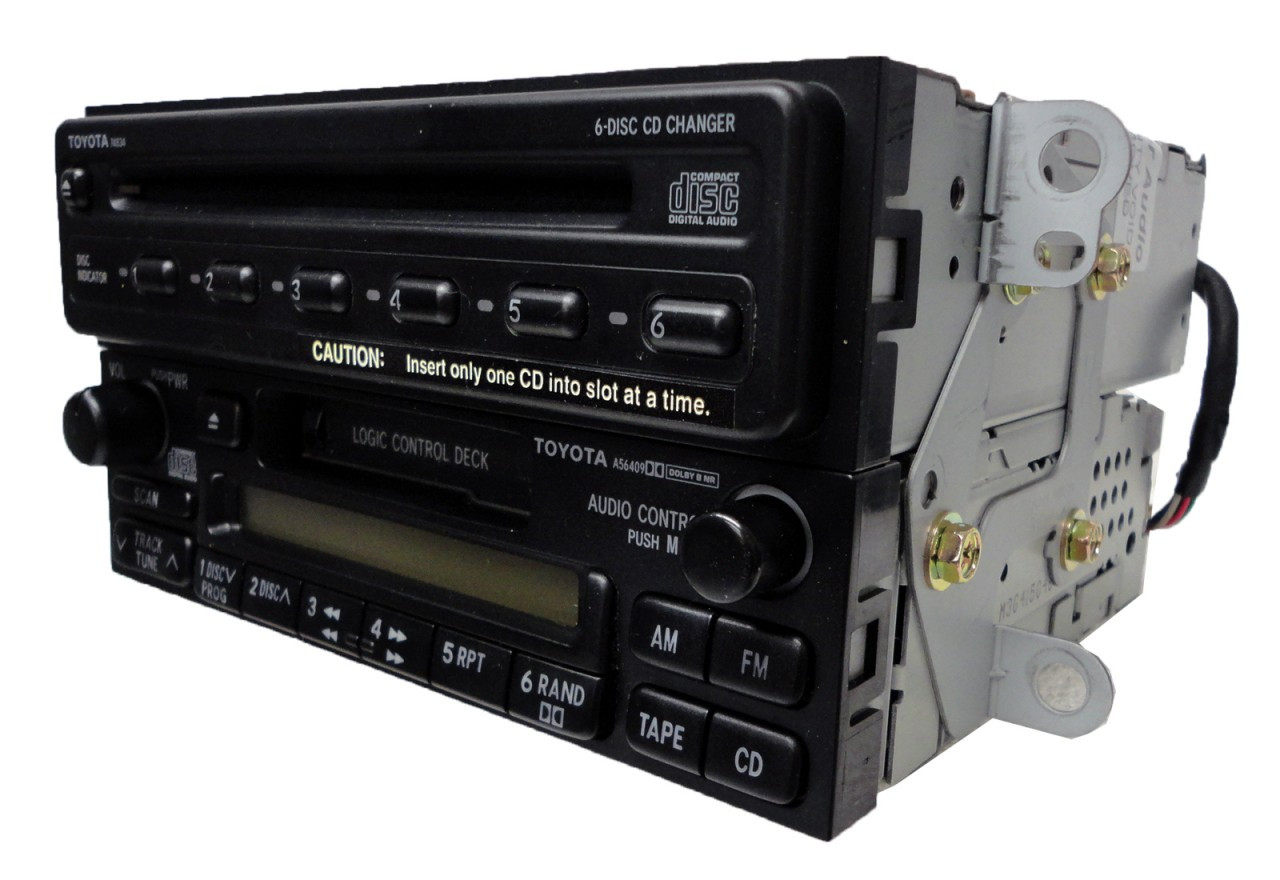 Toyota 4runner Rav4 Camry Am Fm Radio Tape Cassette 6 Disc