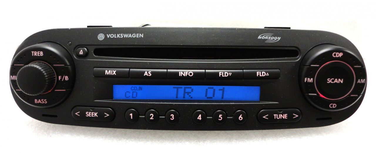 98 02 10 Volkswagen Beetle Radio Stereo Player Cd Mp3 Player