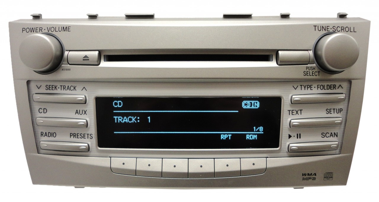 2010 2011 toyota camry radio stereo mp3 cd player bluetooth a51888 factory oem ebay. Black Bedroom Furniture Sets. Home Design Ideas