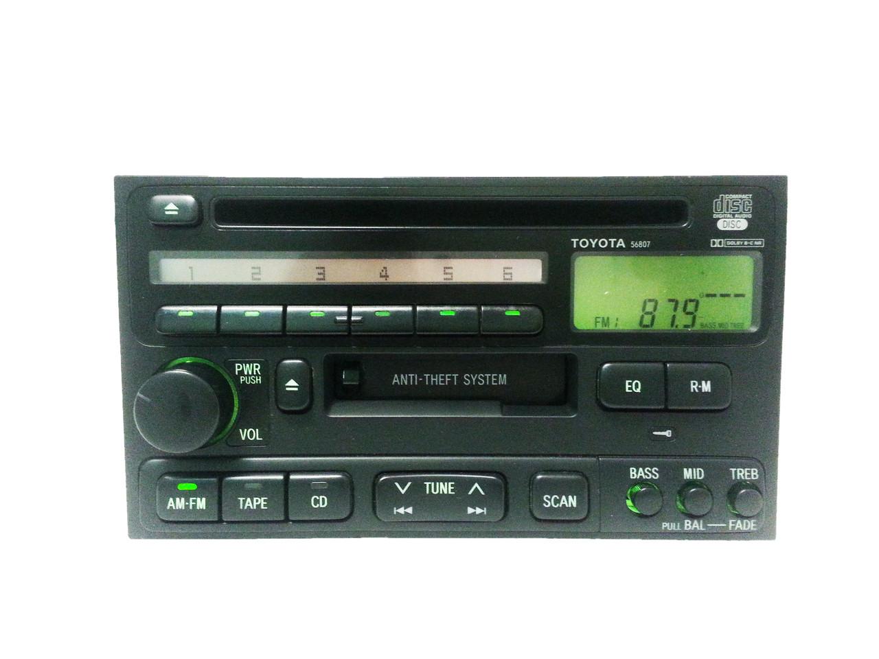 1990 1999 4runner Avalon Camry Celica Radio Tape Cd Player