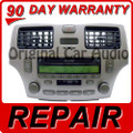 02 03 04 05 06 Lexus ES330 ES300 Radio Tape REPAIR 6 CD Disc Changer