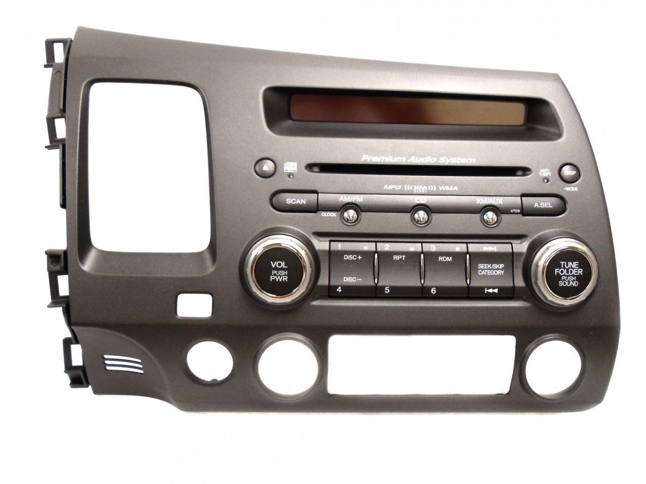 4tc0 2006 07 08 2011 honda civic radio stereo mp3 cd player. Black Bedroom Furniture Sets. Home Design Ideas
